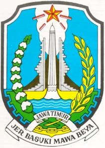Lambang Provinsi Jawa Timur terdiri dari :
