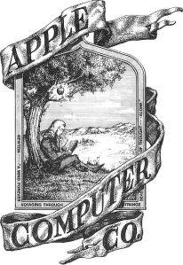 Logo Apple Pertama